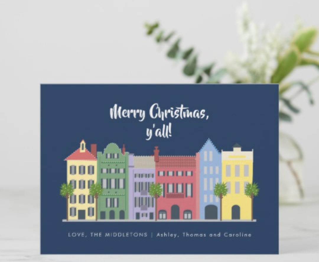 Charleston Christmas Card by Erika Firm