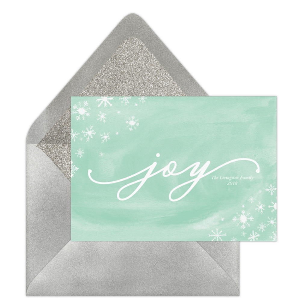 Charming Snowflakes online holiday card by Erika Firm for Greenvelope