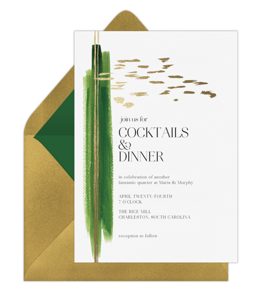 Bold Stroke Holiday Cocktail Party Online Invitation by Erika Firm for Greenvelope