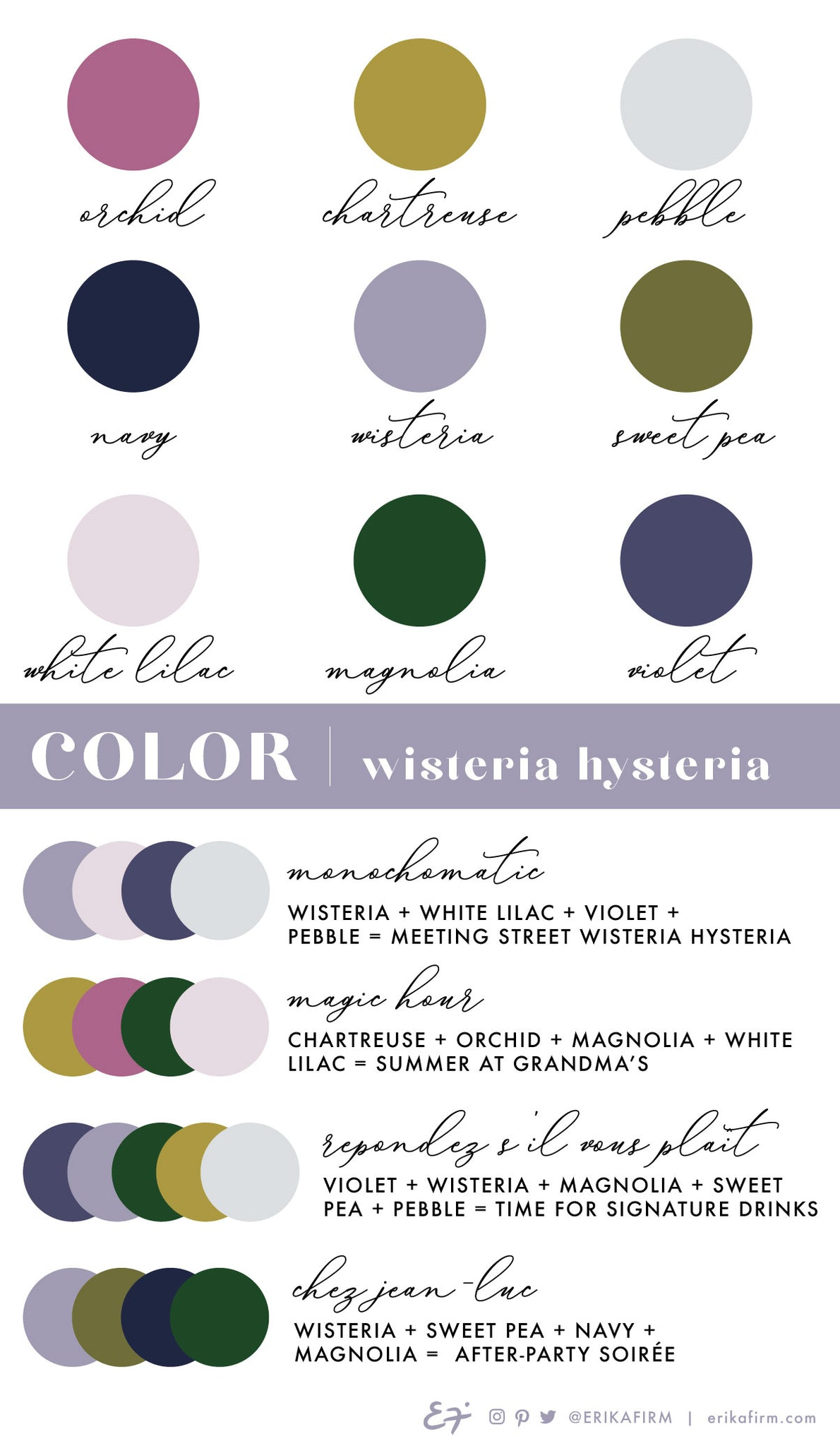 Wisteria Hysteria color palette by Erika Firm