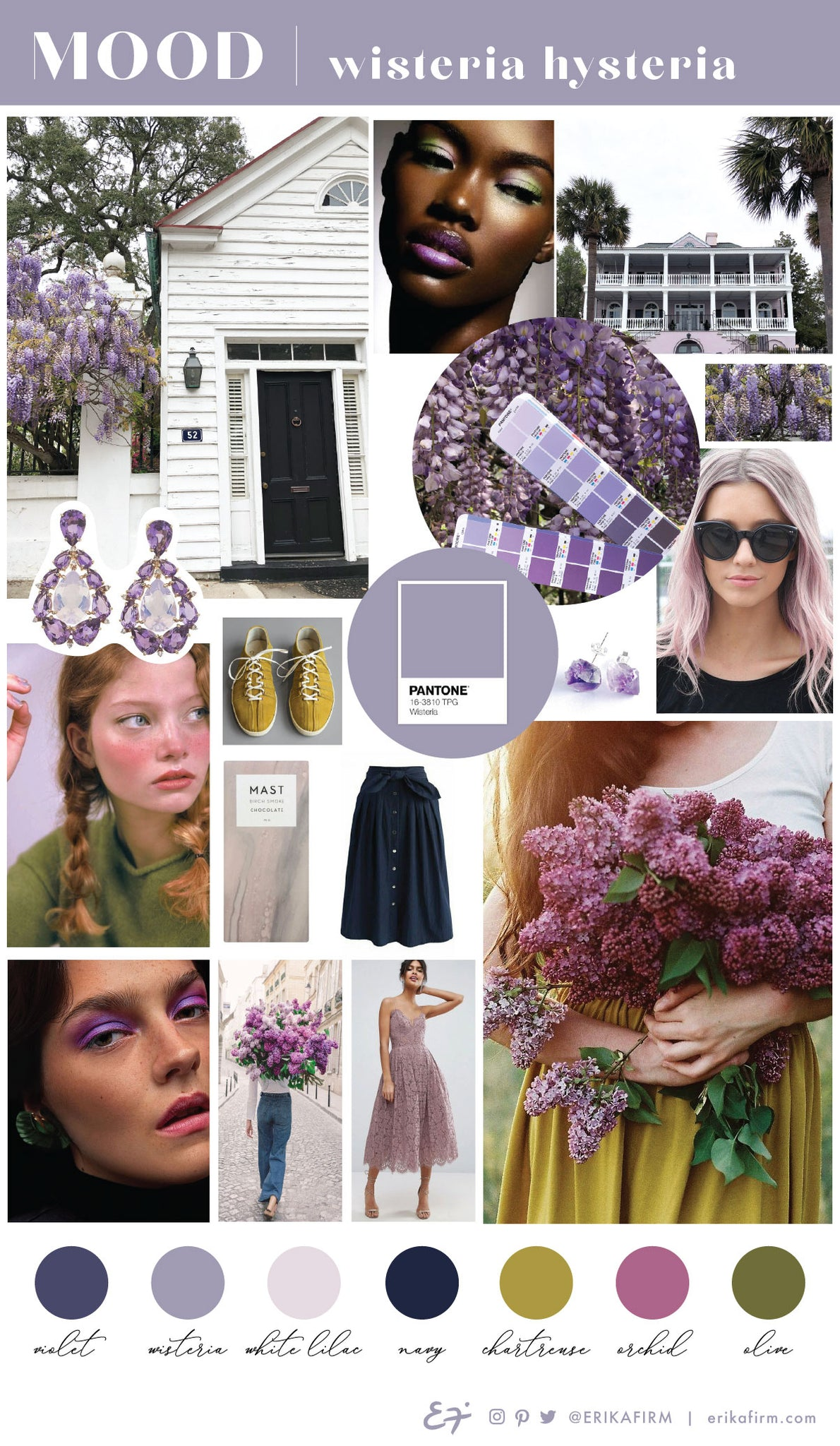Wisteria Hysteria mood board by Erika Firm