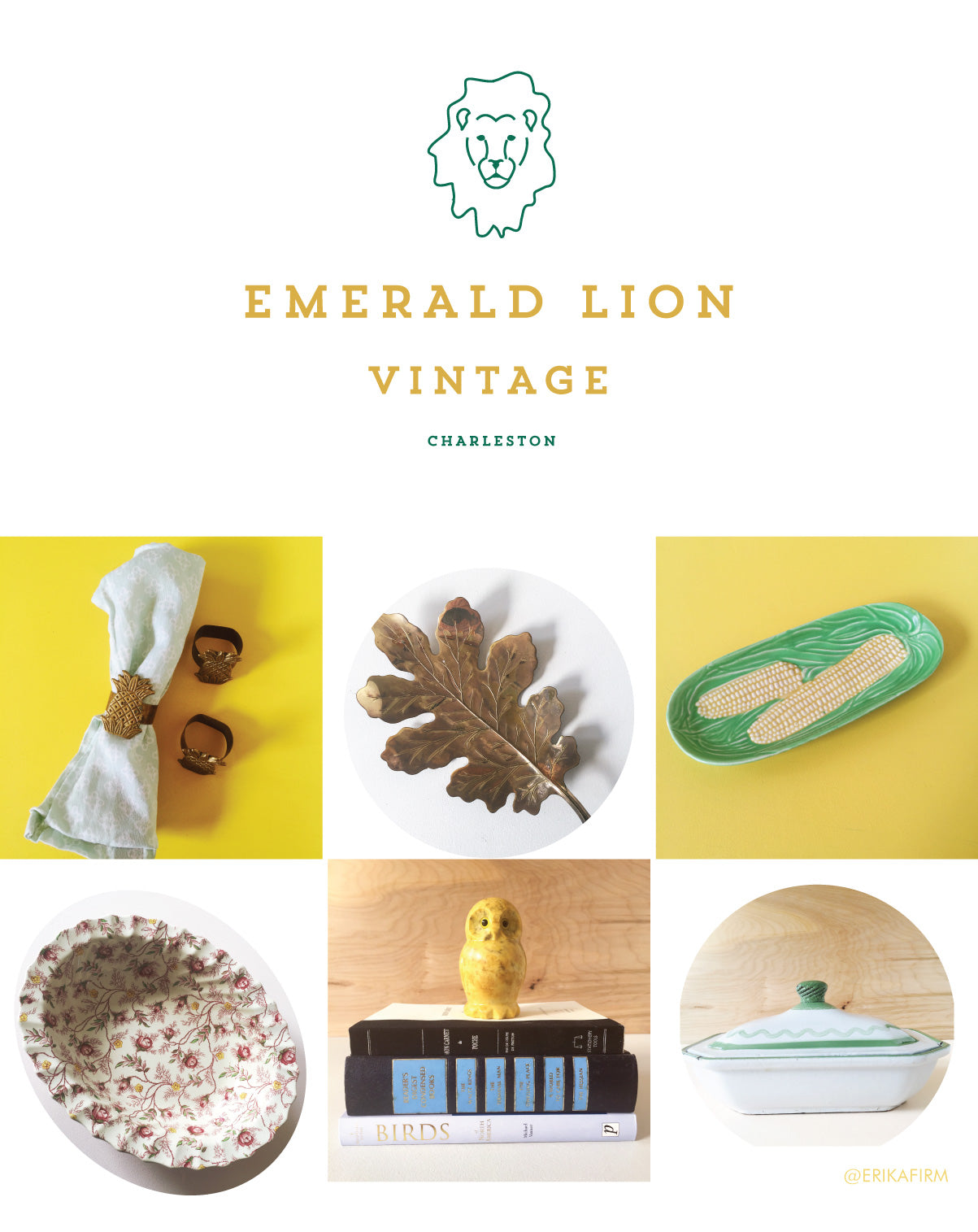 Emerald Lion Vintage Shop Launch Erika Firm