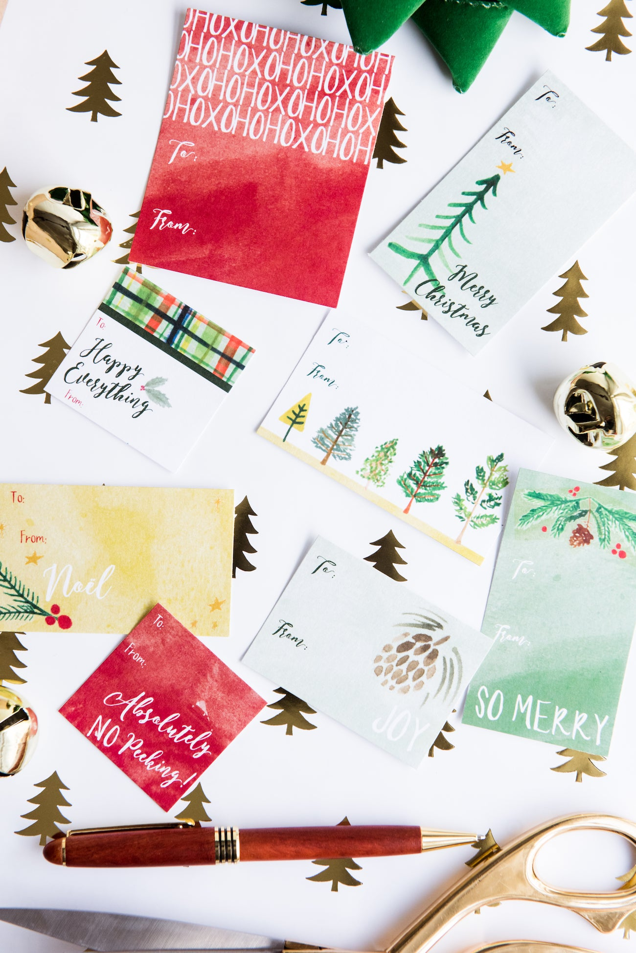 Free christmas gift tag printables by Erika Firm for The Sweetest Occasion and Staples.