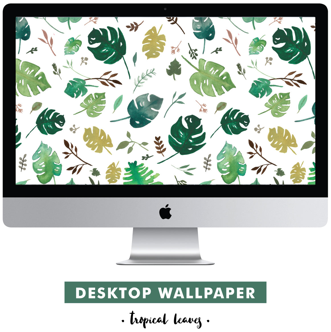 tropical leaves desktop wallpaper by erika firm