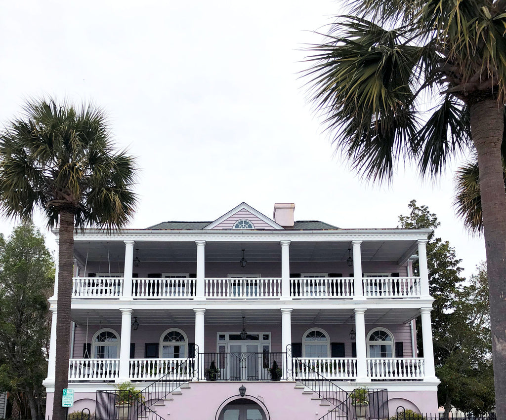 Pale purple house in Charleston South Carolina photo by Erika Firm