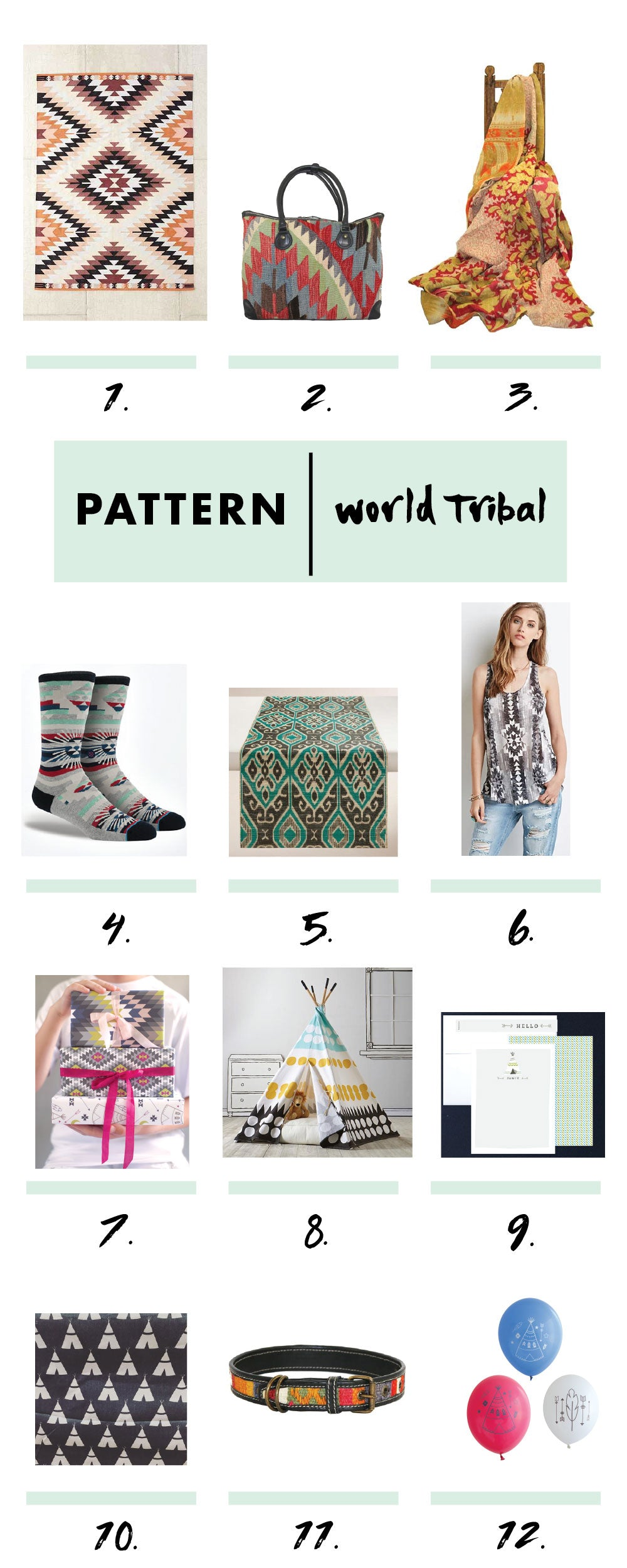 world tribal patterns roundup by erika firm