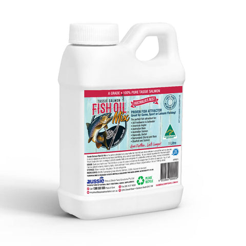Image of 1 Litre <br>Tassie Salmon Fish Oil Mix <br>Fishing Attractant