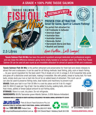 2.5 Litre <br>Tassie Salmon Fish Oil Mix <br>Multi-Buy Pack of 6