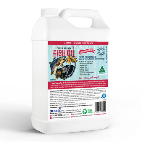 Image of 5 Litre <br>Tassie Salmon Fish Oil Mix <br>Fishing Attractant