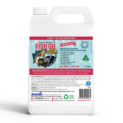 Image of 10 Litre <br>Tassie Salmon Fish Oil Mix <br>Fishing Attractant