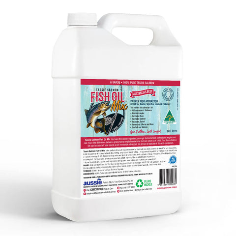10 Litre <br>Tassie Salmon Fish Oil Mix <br>Fishing Attractant