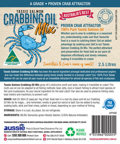 Image of 2.5 Litre <br>Tassie Salmon Crabbing Oil Mix <br>Crab Attractant