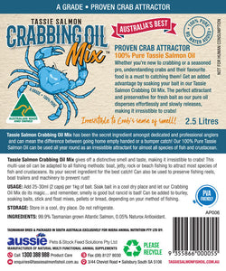 2.5 Litre <br>Tassie Salmon Crabbing Oil Mix <br>Crab Attractant