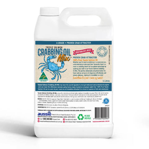 1 Litre <br>Tassie Salmon Crabbing Oil Mix <br>Crab Attractant