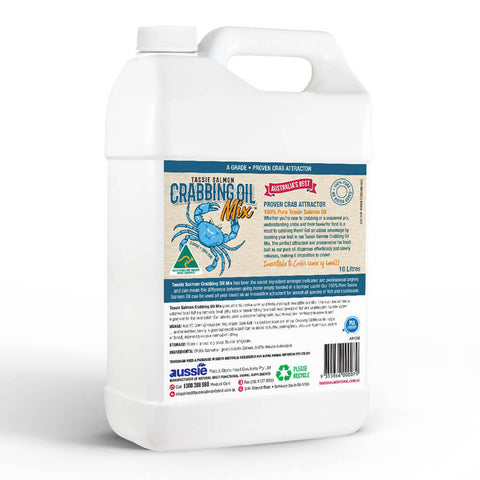 10 Litre <br>Tassie Salmon Crabbing Oil Mix <br>Crab Attractant