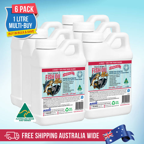 1 Litre <br>Tassie Salmon Fish Oil Mix <br>Multi-Buy Pack of 6