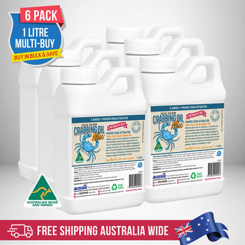 Image of 1 Litre <br>Tassie Salmon Crabbing Oil Mix <br>Multi-Buy Pack of 6