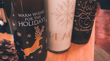 Custom Etched Holiday Candles!