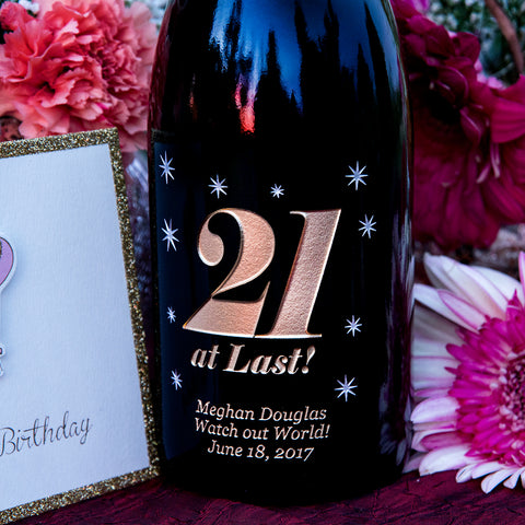 21 at Last! Etched Wine
