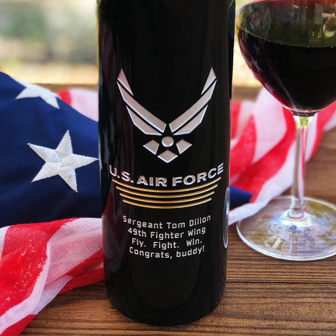 The Air Force Etched Wine