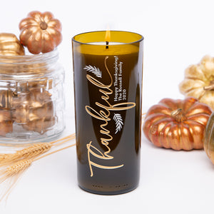 Always Thankful Personalized Candle
