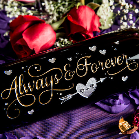 Always & Forever Etched Wine