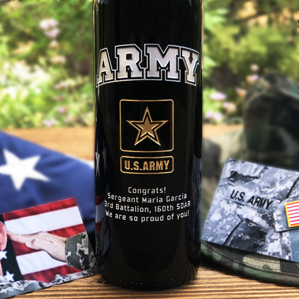 The Army Etched Wine