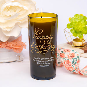 Beloved Birthday Personalized Candle
