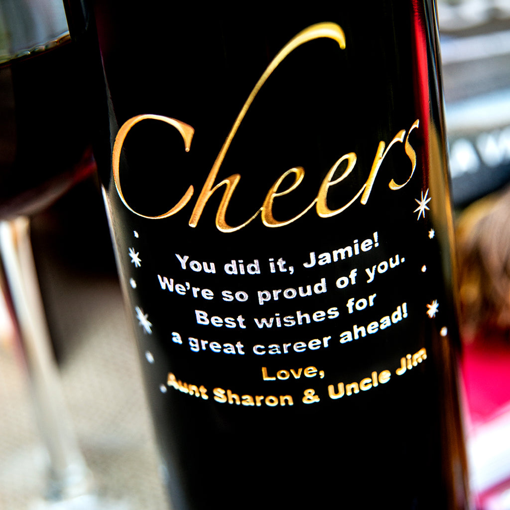 Cheers! Etched Wine