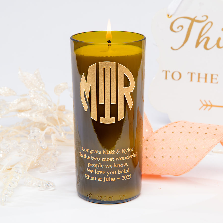 Original Monogram Personalized Candle