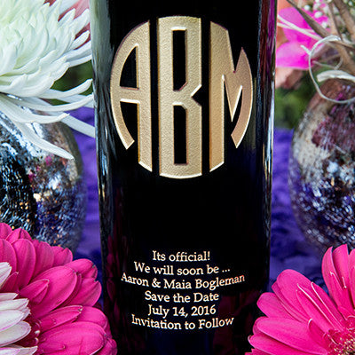 Original Monogram Etched Wine