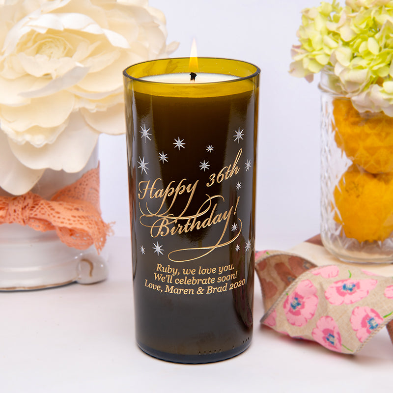 Classic Birthday Personalized Candle