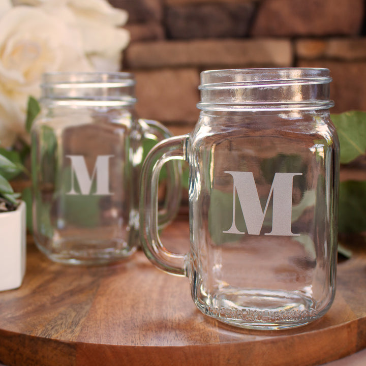 Eloquent Monogram Mason Jar