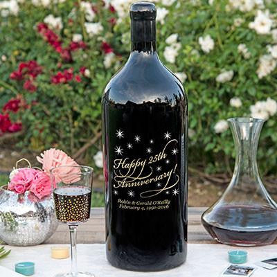 Classic Anniversary 3.0 Liter Bottle Etched Wine