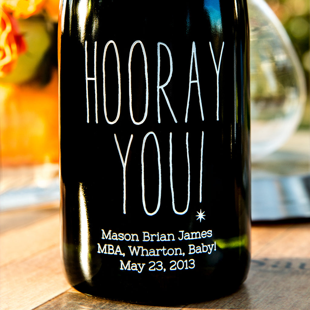Hooray You! Etched Wine