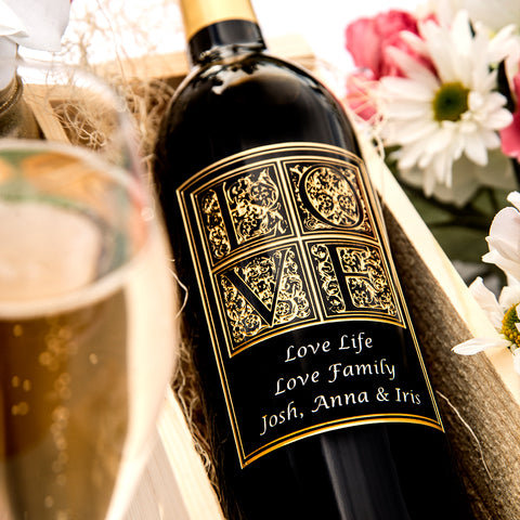 Love Letters Etched Wine