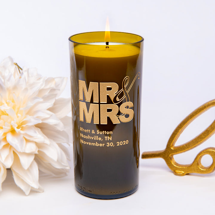 Mr & Mrs Personalized Candle