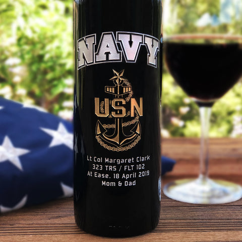 The Navy Etched Wine