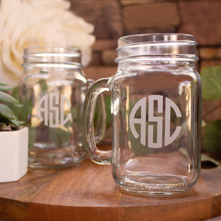 Original Monogram Mason Jar