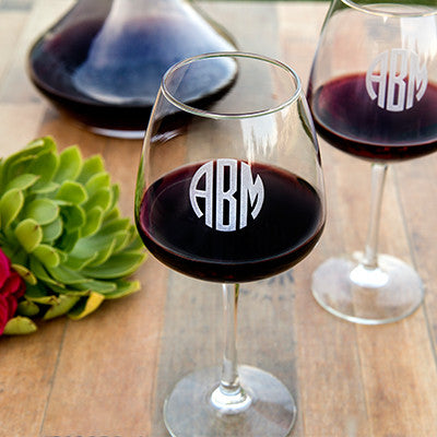Original Monogram Wine Glass