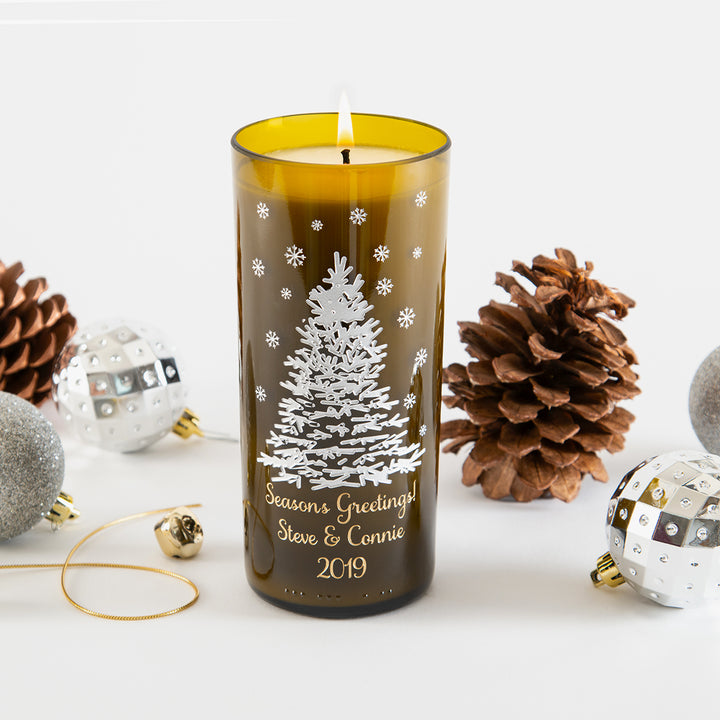 Shimmering Tree Personalized Candle