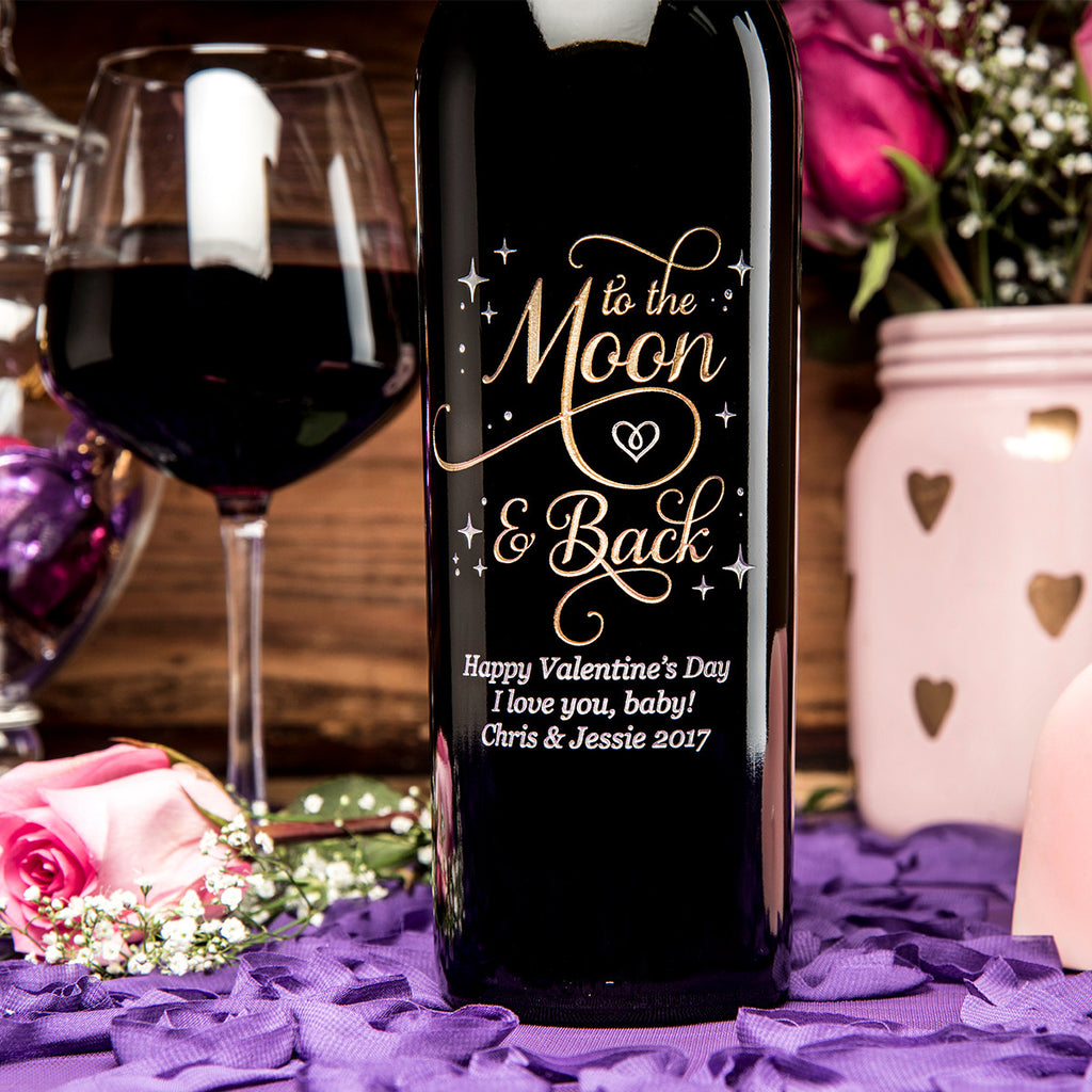To the Moon & Back Etched Wine