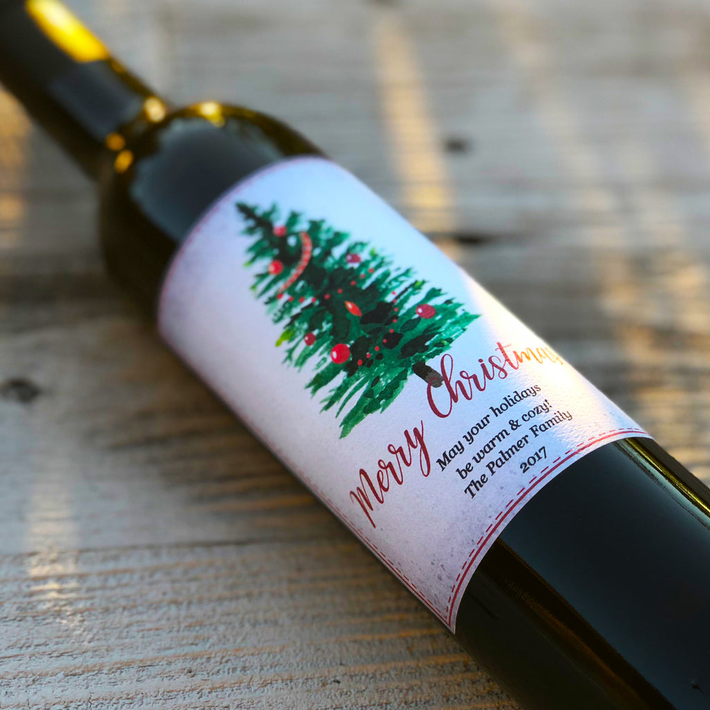 Classic Christmas - Personalized Oil & Vinegar