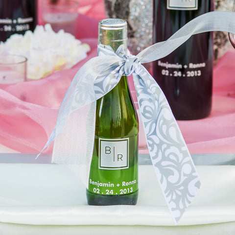 Transitional Monogram Etched Favor / 6 btl set