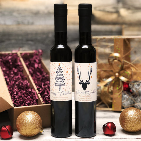Enchanted Christmas Personalized Oil & Vinegar Gift set