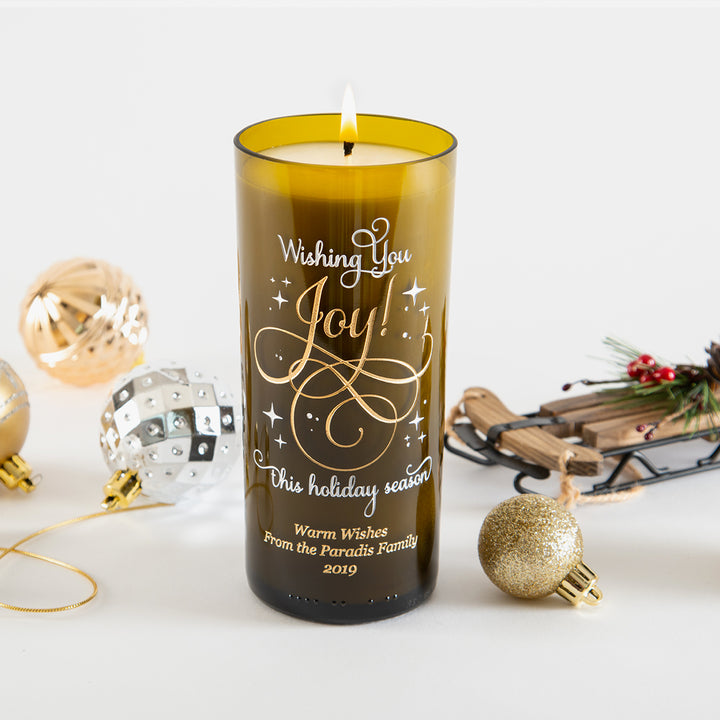 Wishing You Joy Personalized Candle