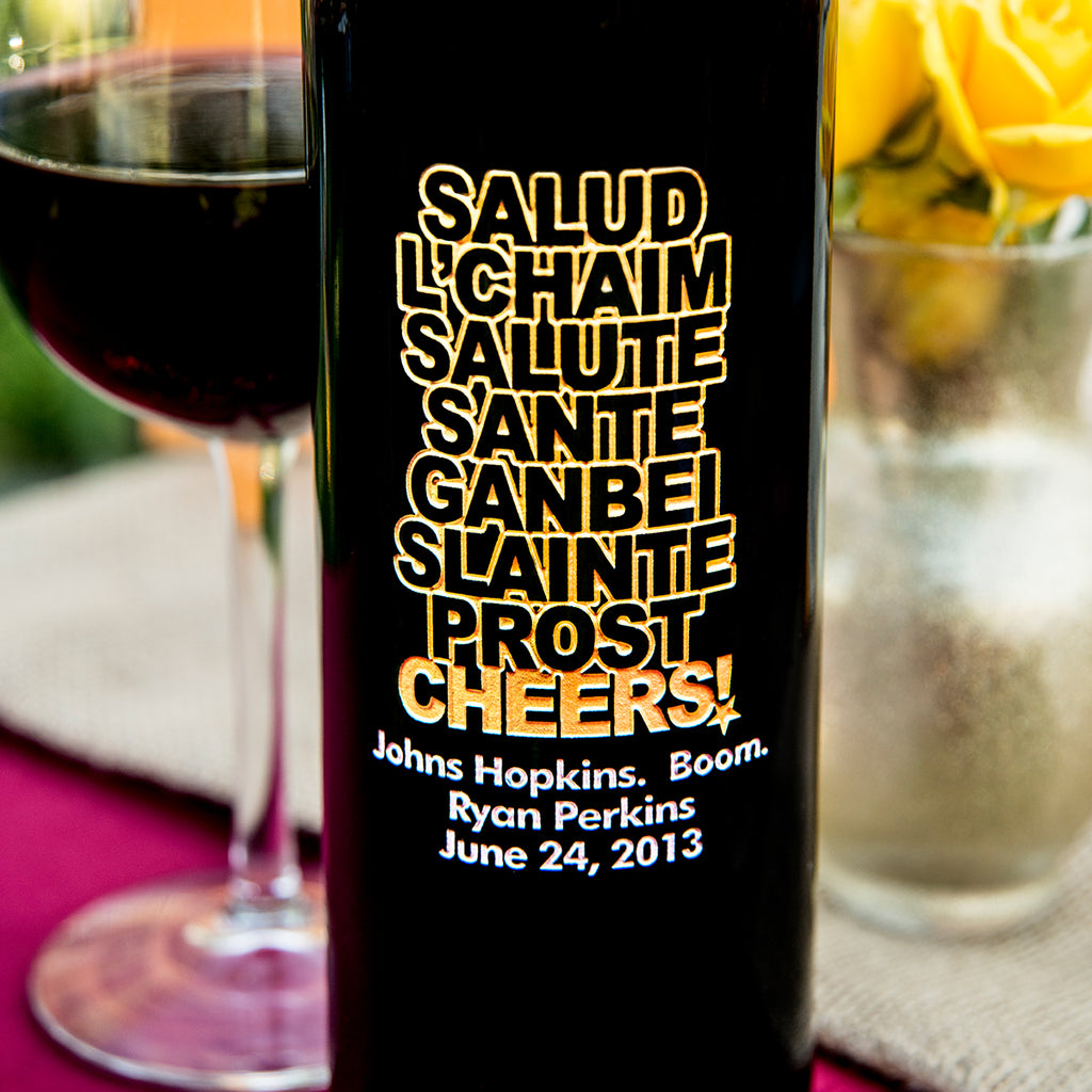 Worldwide Cheers Etched Wine