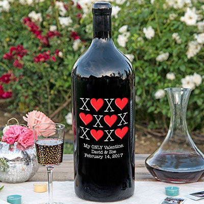 XOXO 1.5 Liter Bottle Etched Wine