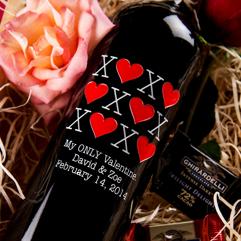 XOXO Etched Wine
