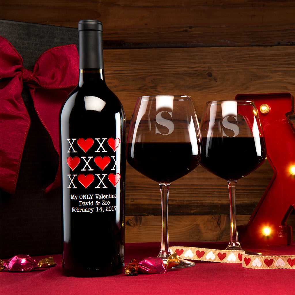 XOXO Etched Wine Gift Set